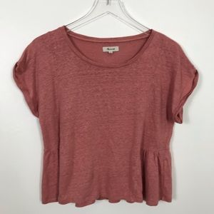 Madewell Coral Pink Shirt Sz M